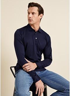 Bisse SW18K18201 Regular Fit Manşetli Polo Yaka Sweatshirt
